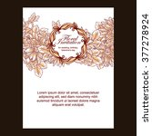 vintage delicate invitation... | Shutterstock . vector #377278924