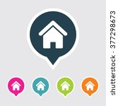 very useful editable home icon... | Shutterstock .eps vector #377298673