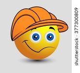 cartoon engineer emoji smiley... | Shutterstock .eps vector #377300809