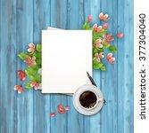 spring vector top view... | Shutterstock .eps vector #377304040