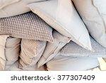 grey pillows | Shutterstock . vector #377307409