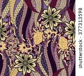 tracery seamless calming... | Shutterstock . vector #377313598
