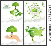 ecology concept. save world... | Shutterstock .eps vector #377317369