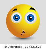 shocked sad emoji smiley... | Shutterstock .eps vector #377321629