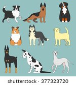 various dogs | Shutterstock .eps vector #377323720
