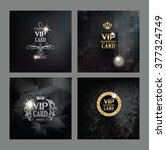 set of vip cards | Shutterstock .eps vector #377324749