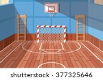 school or university gym hall ... | Shutterstock .eps vector #377325646