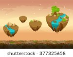 ������, ������: Night prairie game landscape