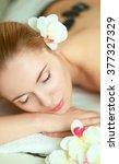 beautiful young woman getting... | Shutterstock . vector #377327329