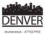 abstract skyline denver  with... | Shutterstock .eps vector #377327953