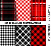 lumberjack tartan and buffalo... | Shutterstock .eps vector #377329489