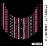 neck line embroidery designs | Shutterstock .eps vector #377330323