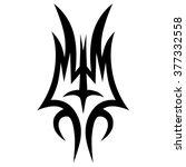 tattoo tribal lower back vector....   Shutterstock .eps vector #377332558