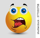 shocked expression   emoji... | Shutterstock .eps vector #377333758