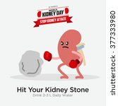 kidney health awareness template   Shutterstock .eps vector #377333980