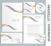 corporate identity design... | Shutterstock .eps vector #377335984