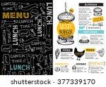 restaurant brochure vector ... | Shutterstock .eps vector #377339170