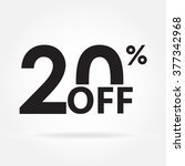 20  off. sale and discount... | Shutterstock .eps vector #377342968