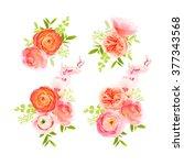 Peachy Roses  Ranunculus And...
