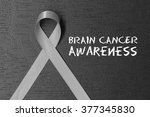 grey ribbon. brain cancer... | Shutterstock . vector #377345830