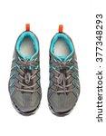 new pair of sport shoe for...   Shutterstock . vector #377348293