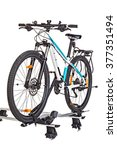 bicycle setting with roof... | Shutterstock . vector #377351494