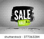 half price sale on grunge... | Shutterstock .eps vector #377363284