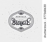 bicycle badge insignia for any... | Shutterstock .eps vector #377368630