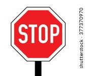 austria stop road sign | Shutterstock .eps vector #377370970
