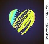 bright heart. stock vector. | Shutterstock .eps vector #377373244