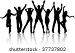 party people   Shutterstock .eps vector #37737802