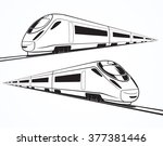High Speed Train In Motion. Se...