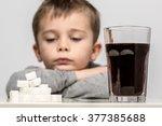 glass full of soft drink  next... | Shutterstock . vector #377385688