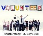 volunteer voluntary support...   Shutterstock . vector #377391658