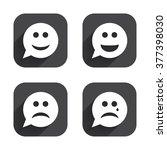 Speech Bubble Smile Face Icons...