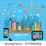 smart city concept with... | Shutterstock .eps vector #377400466