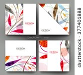 floral ornament vector brochure ... | Shutterstock .eps vector #377401888