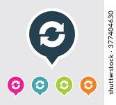 very useful editable reload or... | Shutterstock .eps vector #377404630