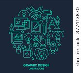 graphic design round shape... | Shutterstock .eps vector #377413870