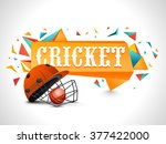 cricket sports concept with... | Shutterstock .eps vector #377422000
