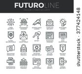 modern thin line icons set of... | Shutterstock .eps vector #377424148