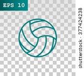 volleyball ball   vector icon   Shutterstock .eps vector #377424238