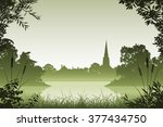 Landscape With Church And...