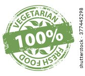 vegetarian fresh food 100... | Shutterstock . vector #377445298