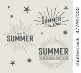 set of summer time logo... | Shutterstock .eps vector #377447500