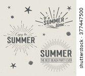 set of summer time logo... | Shutterstock .eps vector #377447500