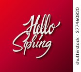 hello spring typographical... | Shutterstock .eps vector #377460820