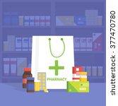 modern interior pharmacy and... | Shutterstock .eps vector #377470780