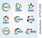 circle logo vector art design... | Shutterstock .eps vector #377471590