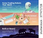 multicolor stock exchange...   Shutterstock .eps vector #377471728